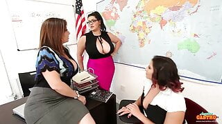 Student Gia Love Bangs Teachers Sara Jay And Angelina Castro