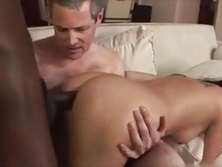 Bi cuckold hubby sucks dick - She takes bbc anal and cuckold hubby suck and cleans