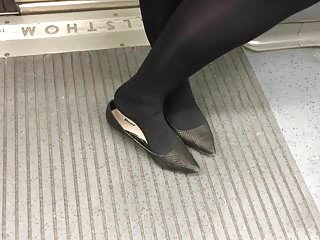 Soft pointy tits Shoe fetish - a bit of shoeplay in pointy flats