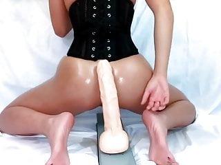Anal asian brutal Asian take huge dildo hard in ass
