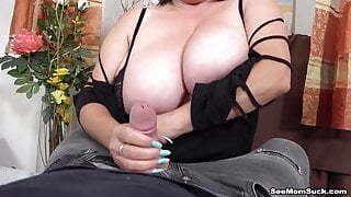Tit Fucking and Sucking by With Euro GILF