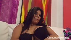 Spicy Mexican Sex Slave Gabby Quinteros Creams Her Burrito!