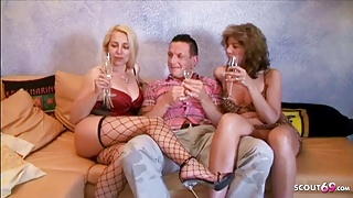 Two German Matures in Amateur Threesome with Big Brother Klaus