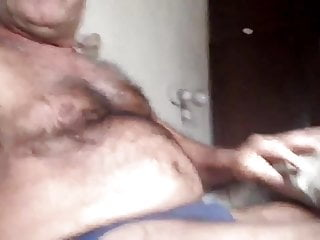 Nudists home video Mustache daddy shows off at home
