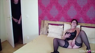 German Redhead Mom Caught by Step-Step Son and Seduce to Fuck