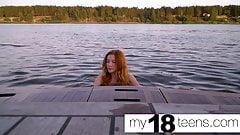 MY18TEENS - Teen Plays Pussy on Camera