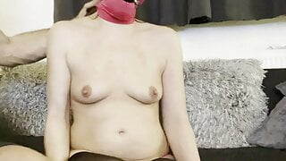 Slavewifey punished with spanking of tits and ass