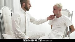 MormonBoyz-Horny twink missionary jerked off by priest daddy