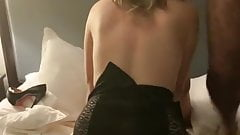 Cuckold wife riding cock for hubby in gangbang
