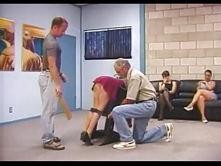 Spanked over mommys lap Spanked over box