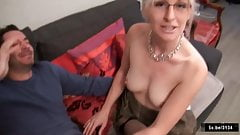 Missy French blonde takes anal in stockings