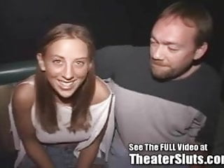 Family circle porn - Cute blonde cum soaked from a porn theater circle jerk