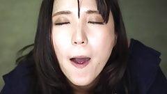 Sensual Japanese suck and swallow.