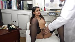 ALICE AXX in black stockings gets fucking hard