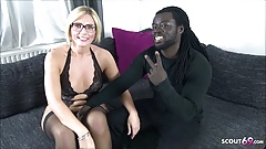 GERMAN MILF TATJANA YOUNG FAN FUCK WITH BLACK MONSTER COCK