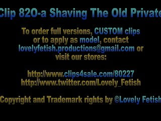 Mens shaved privates - Clip 82o-a shaving the old private - sale: 6
