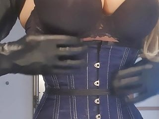 Tight corseting fetish tgp Mistress may in tight corset playing with her big boobs