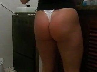 Milf thong ass Wife nice thong ass