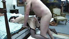Mature husband and wife fucked a girl