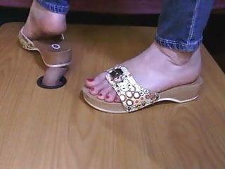 Dr scholls sandals latex Dr. scholls crush a cock, milk his load into the shoe
