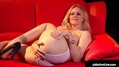 Stripper Cougar Julia Ann Finger Fucks Her Beautiful Twat!