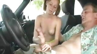 NMLN She Gives A Handjob To Get A Lift Home !
