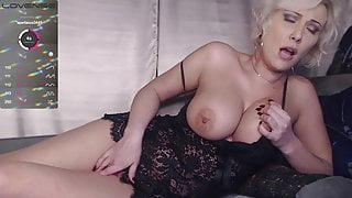 Passionate blonde caresses her juicy hole