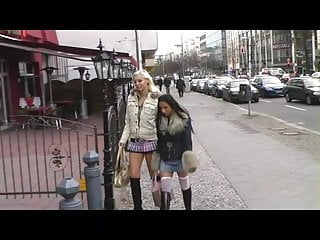 Mature tall blonde nude Tall blonde and small brunette lesbians in public
