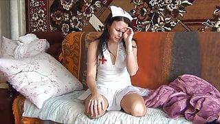 DAK Amputee Nurse Pretender in Pantyhose