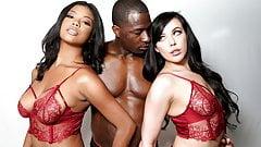 Nia Nacci And Whitney Wright Interracial Threesome Sex