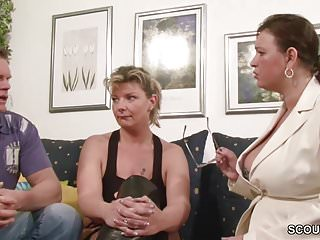 Mum teach daughter to have sex German big tit milf teach couple to have more fun at sex