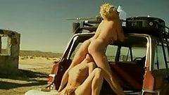 Lesbian play in desert