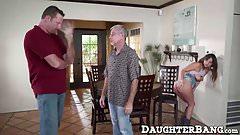 Hot ass teen Charlotte Cross getting dads friend big dick