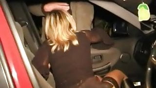 Nancy sucking stranger in auto parking