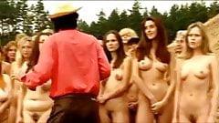 Nude group of women at Czech republic