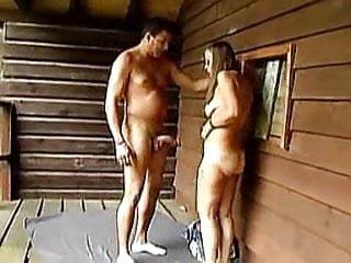 Front porch swinging liqour pigs - Granny gets a humiliating facial at a porch
