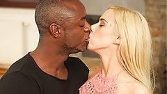 BLACK4K. Cute blonde girl really loves BBC of her new BF