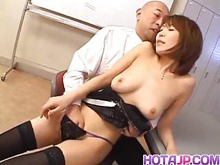 Licking a mans anus durring sex - Jun kusanagi asian milf gets pussy licked and anus fing