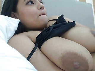 Extremely large areolas tits Big breasts, large areola with big nipples on girl teasing