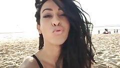 Sexy Teen Transgirl On The Beach