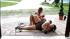 2 massive BBW dominatrices in threesome BBW orgy
