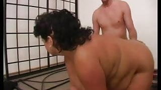 SEXY STEP MOM n103 brunette bbw mature and a younger man