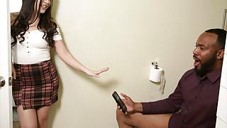 Stepdaughter teen Natalie Brooks has big dick black stepdad