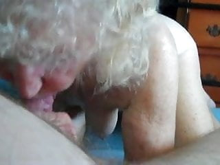 Very senior granny facials - Senior blowjob