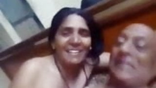 Old couple having sex, husband and wife