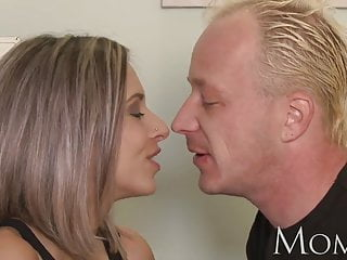 Clit warming - Mom blonde milf loves warm cum on her pussy