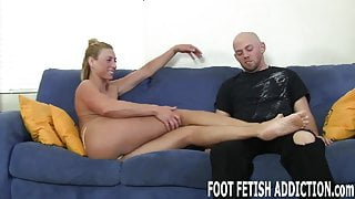 You have to beg if you want to touch my feet
