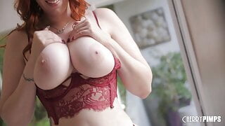 Redhead MILF Bounces Her Big Natural Tits While Riding Cock