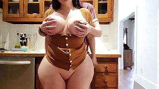 Help! stepson, i'm stuck in the kitchen, fucking with bigtits stepmom