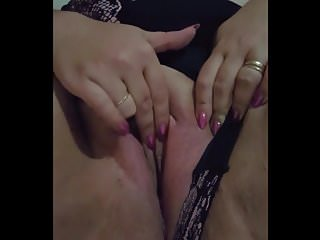 Stepmoms dripping wet juicy pussy - My very sexy wife playing with her wet juicy pussy